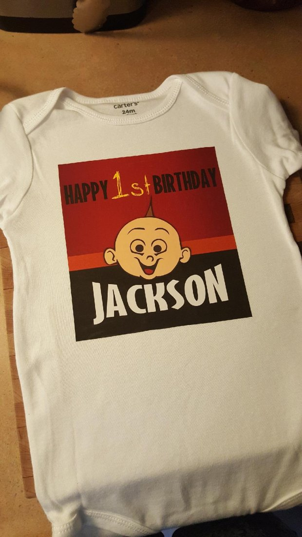 Its On The Shirt Ready To Go For His Birthday